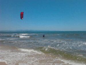 Petrol Beach KiteSpot in Cagliari auf Sardinien