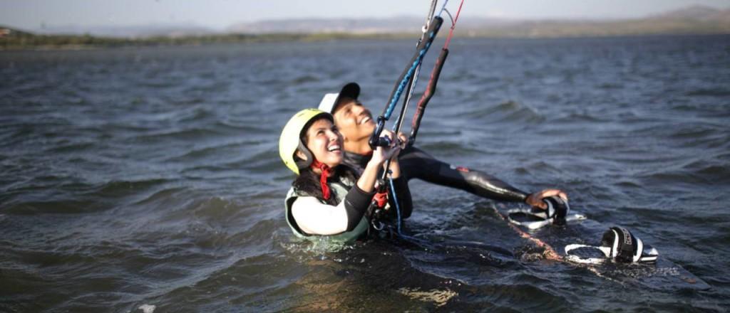 Kitesurfen Kurs auf Sardinien