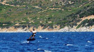 Kitesurfen Sardinien: Kite Foil Auf Sardinien, Villasimius Kite Spot