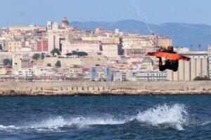 Kite Beach Cagliari Kitesurfn Cagliari Sardinien