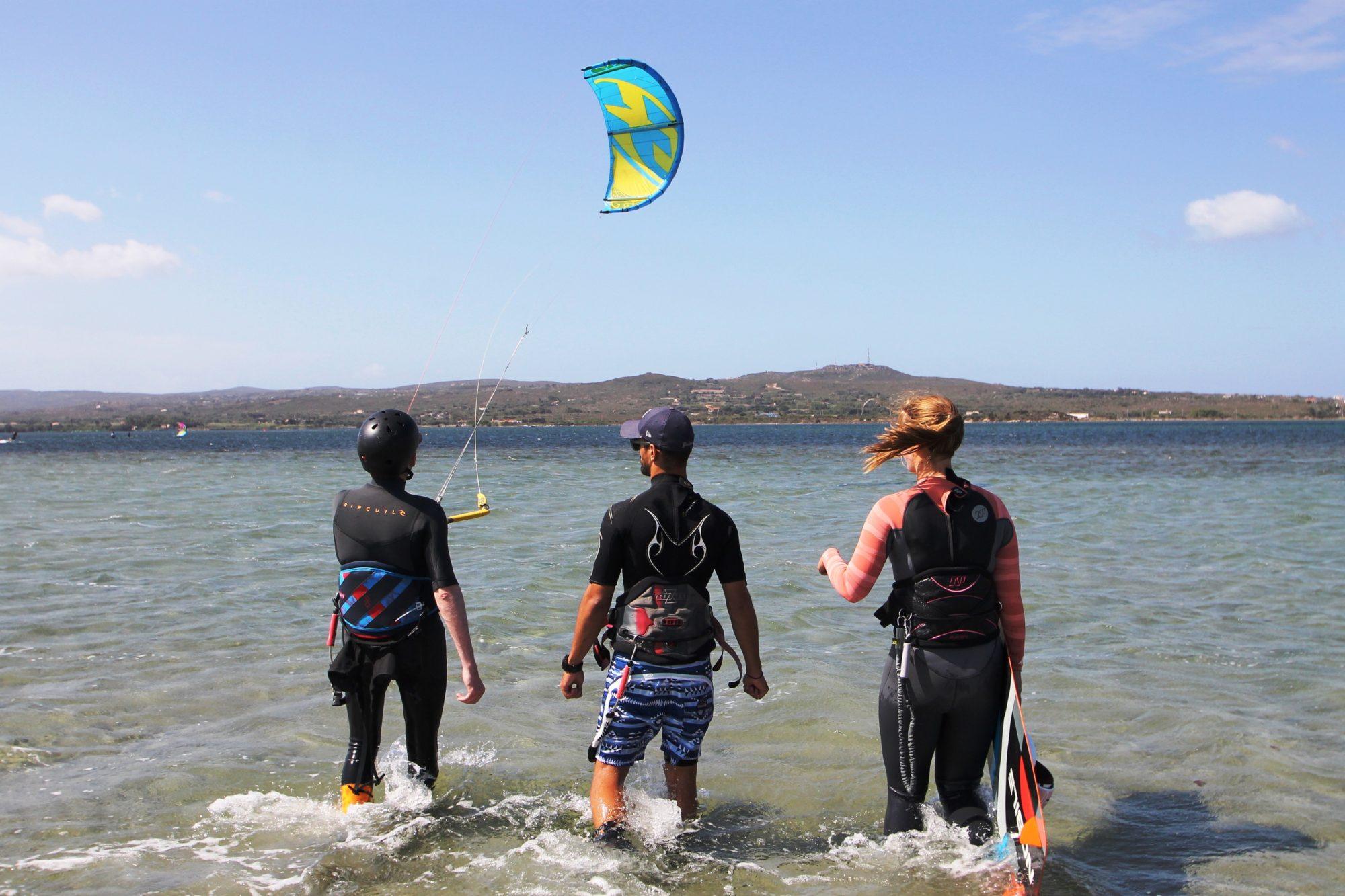 Kitekurs Sardinien Kiten Lernen in Punta Trettu Sardinien