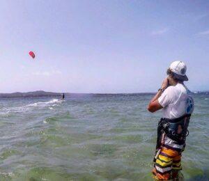 Kitesurfing Sardinia - Kite Lessons in Punta Trettu, Southern Sardinia: Learn to Kitesurf in the best kite spot of Sardinia