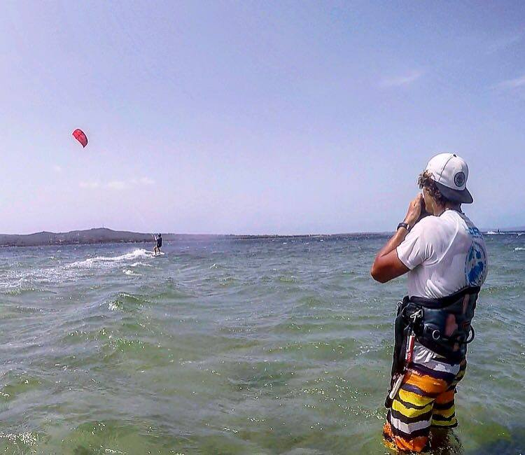 Kitesurfing Sardinia - Kite Lessons in Punta Trettu, Southern Sardinia: Learn to Kitesurf in the best kite spot of Sardinia
